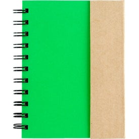 Company Small Spiral Notebook with Sticky Notes and Flags