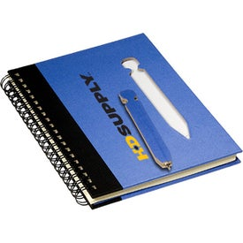 Eco Notebook with Die-Cut Pen Imprinted with Your Logo