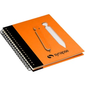 Eco Notebook with Die-Cut Pen for Advertising