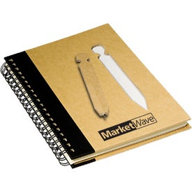 Imprinted Eco Notebook with Die-Cut Pen