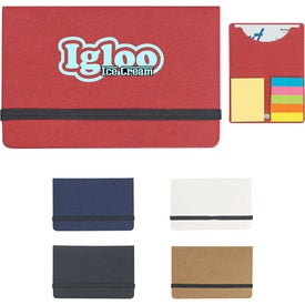 Sticky Notes And Flags In Pocket Case Branded with Your Logo
