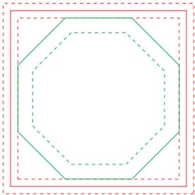 """Octagon BIC Ecolutions Adhesive Die Cut Notepad (3"""" x 3"""", 50 Sheets)"""