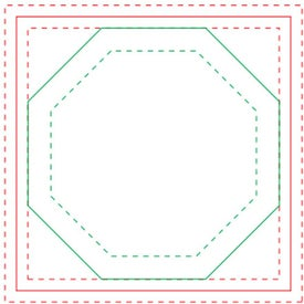 Octagon Adhesive Sticky Note Pads (Small, 100 Sheets)