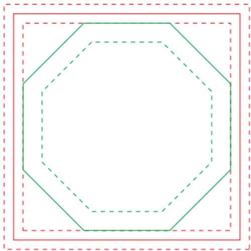 White Octagon BIC Adhesive Sticky Note Pads