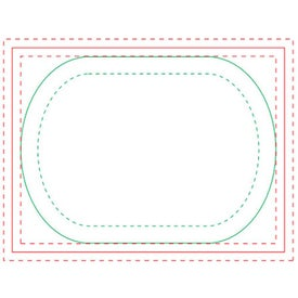 Oval BIC Ecolutions Adhesive Die Cut Notepad (100 Sheets, 3.7482