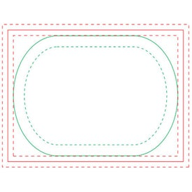 Oval BIC Ecolutions Adhesive Die Cut Notepad (50 Sheets)