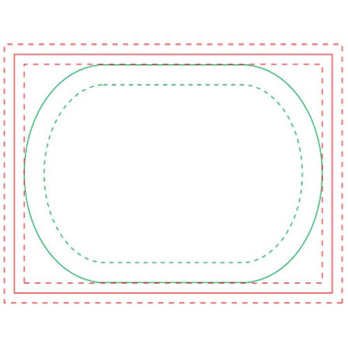 White Oval BIC Adhesive Sticky Note Pads
