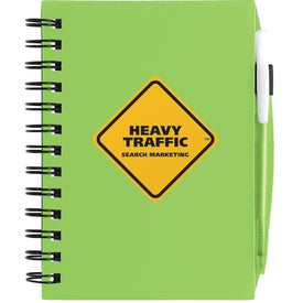 Plastic Cover Notebook for Promotion
