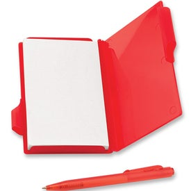 Pocket Notebook With Pen Imprinted with Your Logo
