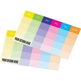"Post-It Custom Printed Organizational Notes (25 Sheets, 10"" x 5.75"")"