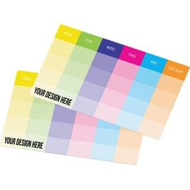"Post-It Custom Printed Organizational Notes (6"" x 10"", 25 Sheets)"