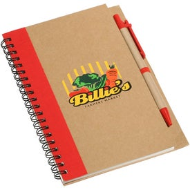Promo Write Recycled Notebook with Your Slogan