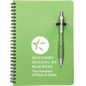 Logo Promotional Notebook with Removable Pen