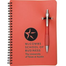 Promotional Notebook with Removable Pen with Your Logo