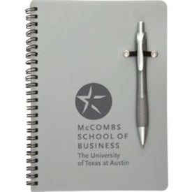 Monogrammed Promotional Notebook with Removable Pen