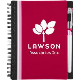 Branded Racing Stripe Notebook