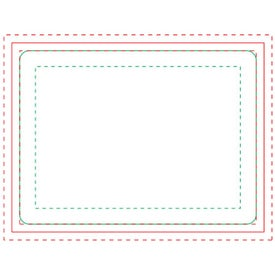 Rectangle BIC Ecolutions Adhesive Die Cut Notepad (25 Sheets)
