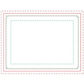 "Rectangle BIC Ecolutions Adhesive Die Cut Notepad (4"" x 3"", 100 Sheets)"