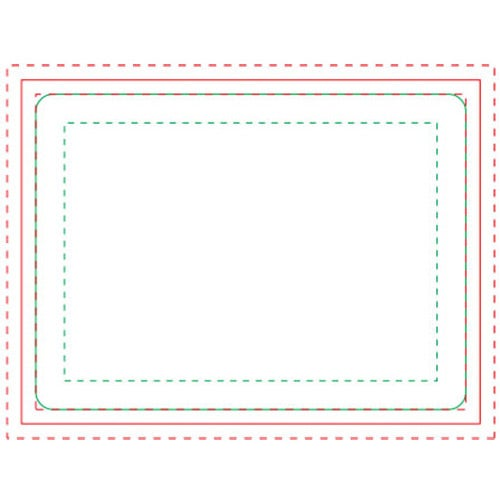 White Rectangle BIC Ecolutions Adhesive Die Cut Notepad