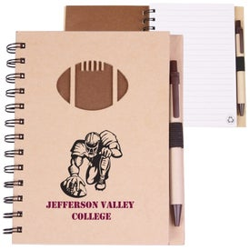Recycled Die Cut Notebook (Football)