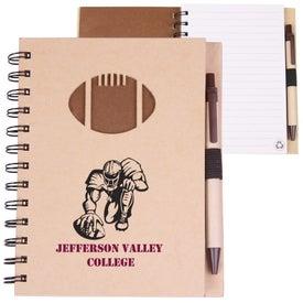 Recycled Die Cut Notebook (Football)