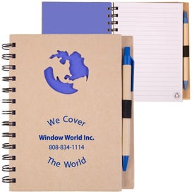 Recycled Die Cut Notebook (Globe)