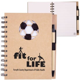 Recycled Die Cut Notebook (Soccer)