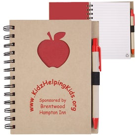 Recycled Die Cut Notebook (Apple)