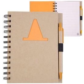 Logo Recycled Die Cut Notebook