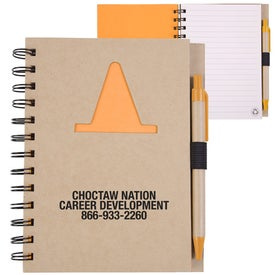 Recycled Die Cut Notebook (Construction Cone)