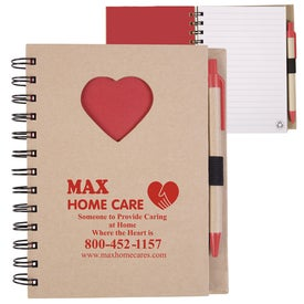 Recycled Die Cut Notebook (Heart)