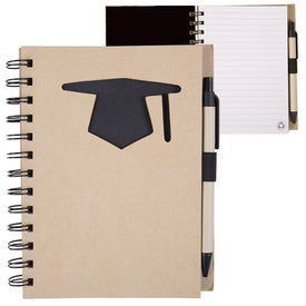 Monogrammed Recycle Die Cut Notebook