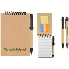 Company Recycle Notebook and Sticky Note