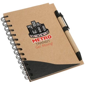 Recycle Write Notebook And Pen with Your Slogan