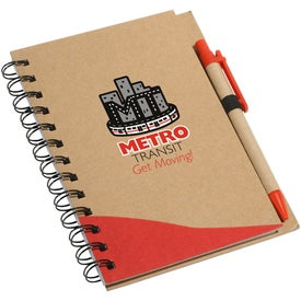 Printed Recycle Write Notebook And Pen