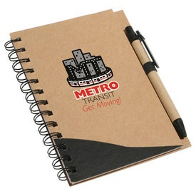 Imprinted Recycle Write Notebook And Pen