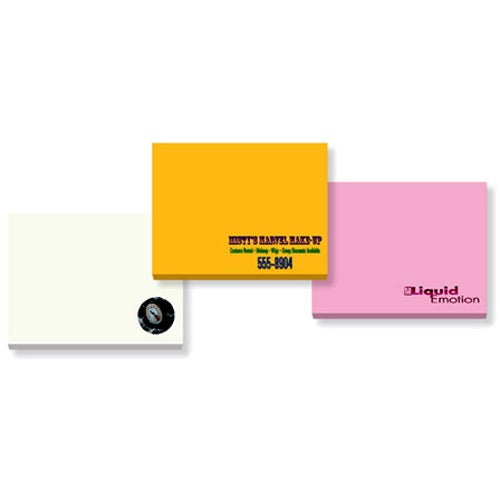 """BIC Recycled Adhesive Notepads (4"""" x 3"""" w/ 50 Sheets)"""