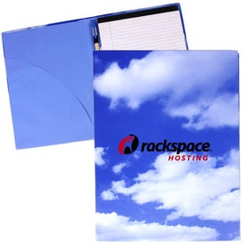 Recycled Padfolio with Pen (Cloud/Tech Theme)