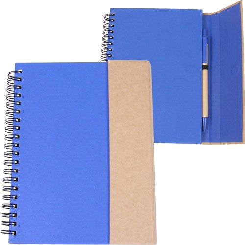 Blue / Natural Recycled Magnetic Journalbook