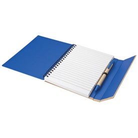 Recycled Notebook and Pen Printed with Your Logo