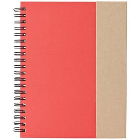 Printed Recycled Notebook and Pen