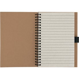 Logo Recycled Notebook with Matching Paper Pen