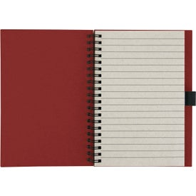 Custom Recycled Notebook with Matching Paper Pen