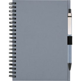 Recycled Notebook with Matching Paper Pen for Your Organization