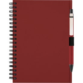 Personalized Recycled Notebook with Matching Paper Pen