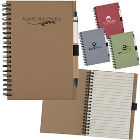 Recycled Notebook with Matching Paper Pen