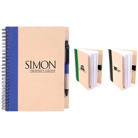 Recycled Paper Notebook Branded with Your Logo