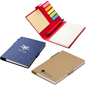 Monogrammed Recycled Pen Note and Flag Set