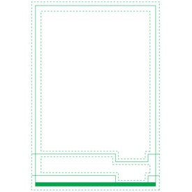 "Right Tab Beveled Adhesive Sticky Note Pads (4"" x 6"")"