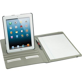 Imprinted Rotating Case Tech Padfolio for iPad